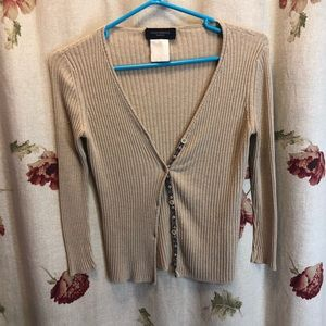 Piazza Sempione Mangue  small Tan Cardigan